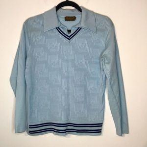 Vintage academic style long sleeve top